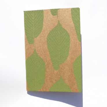 Carnet NATURAL Kraft A5 - POPULUS Moutarde