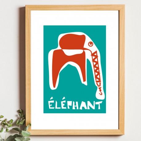 Affiche éléphant