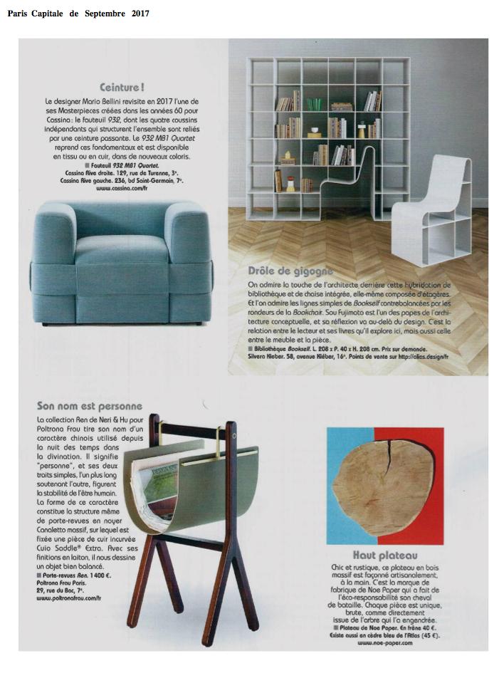Le Magazine Paris Capitale parle de Noe Paper