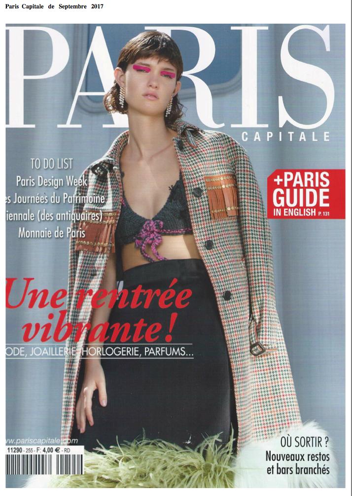 Magazine Paris Capitale parle de Noe Paper